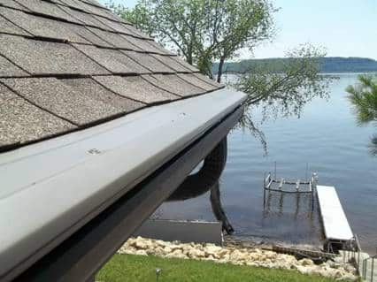 Gutter Guards on home by lake