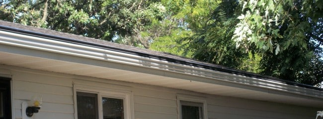 Rain gutters professionaly installed on your home