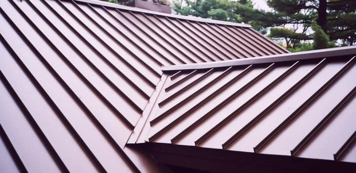 Red Colored Metal Roofing