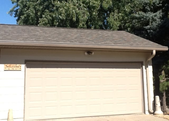 seamless gutters on garage in Red Wing, MN