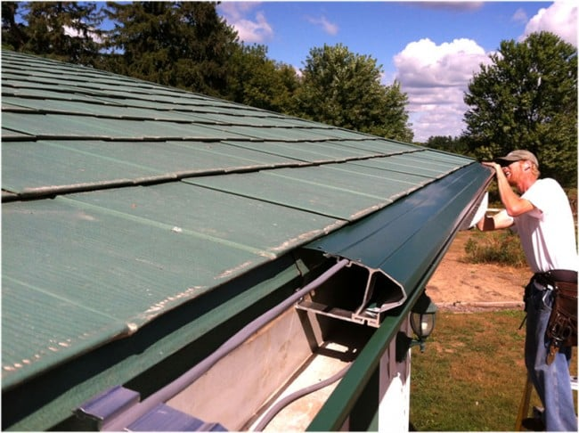 Installing gutter proection system in Ellsworth, WI