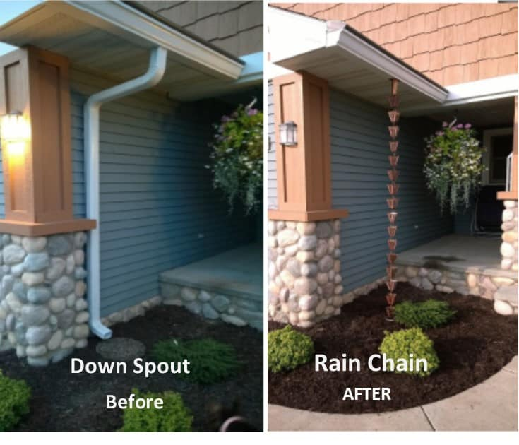 Exterior Updates Rain Chains Drain Tile Pop Up Drains