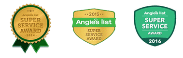Angie's List Super Service Awards 3 Years in a row!