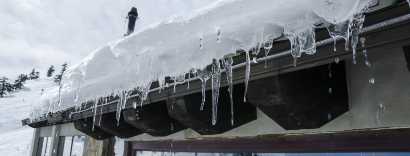 ice on top of roof